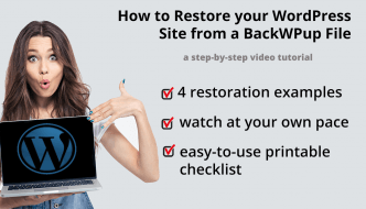 How to restore your WordPress site from backup file